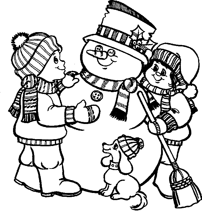 Snowman Head Coloring Pages