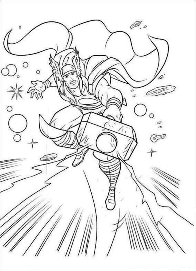 Thor And Hulk Coloring Pages