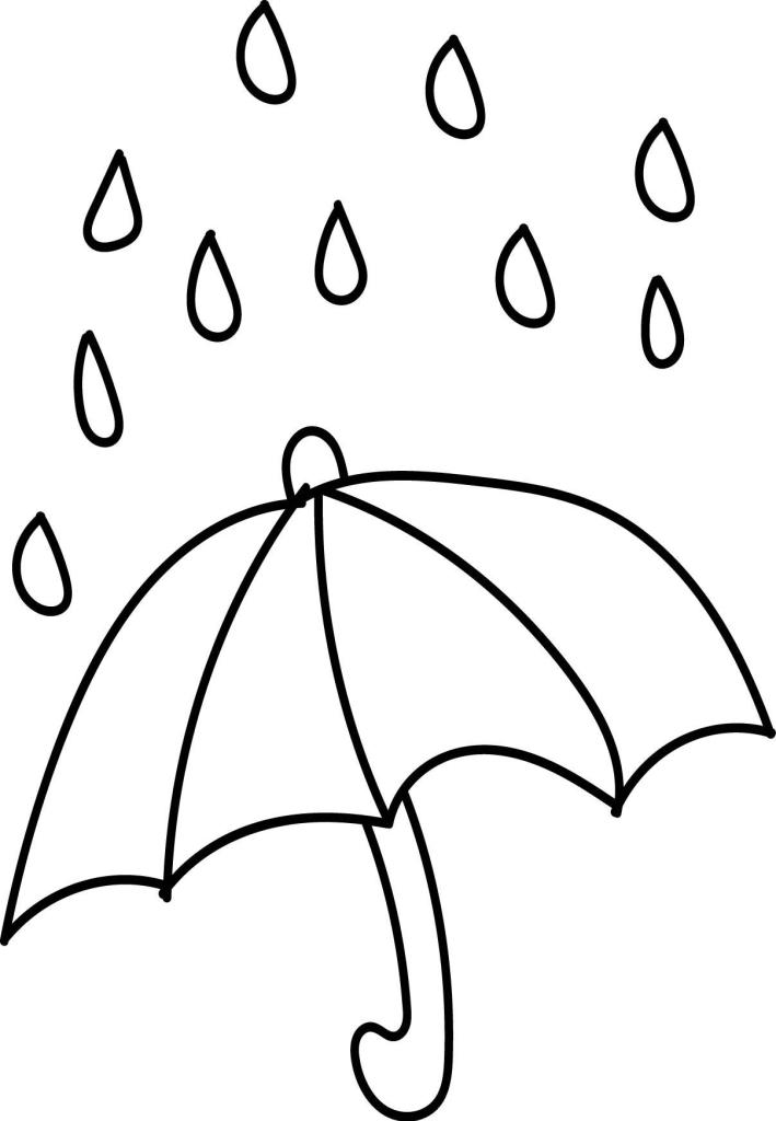 Umbrella Coloring Page Images