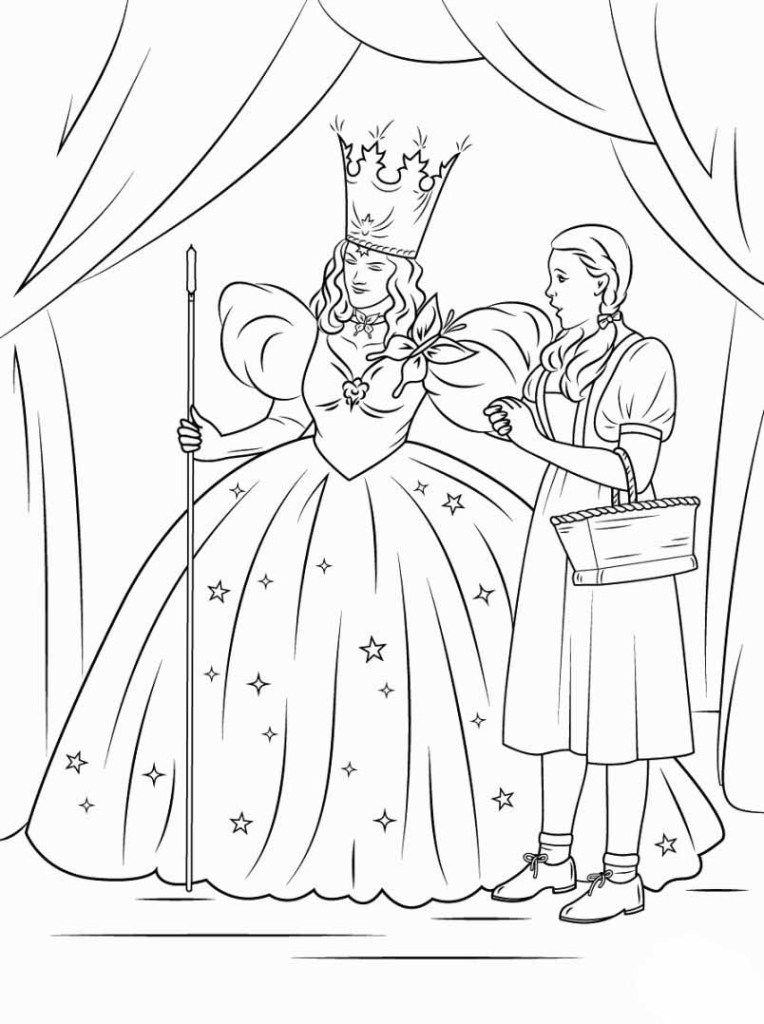 Wizard Of Oz Emerald City Coloring Pages