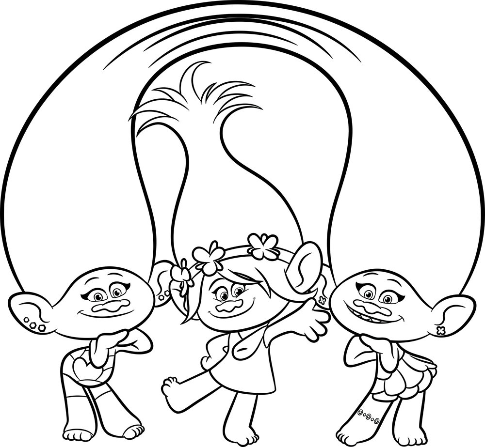 poppy coloring page trolls