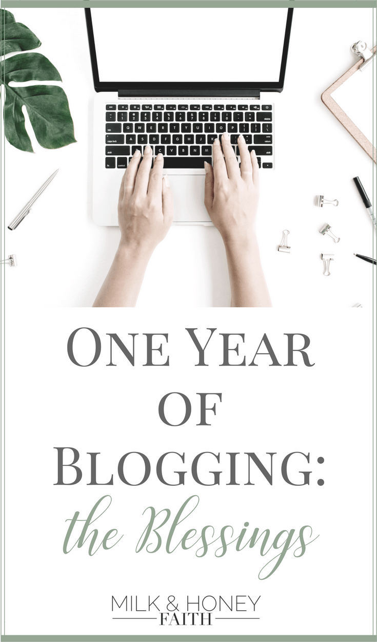 Learn about the incredible blessings I've experienced in my first year of blogging. They are the same blessings the Lord bestows on each of us when we step into our calling and utilize our spiritual gifts. #Milkandhoneyfaith #Blogging