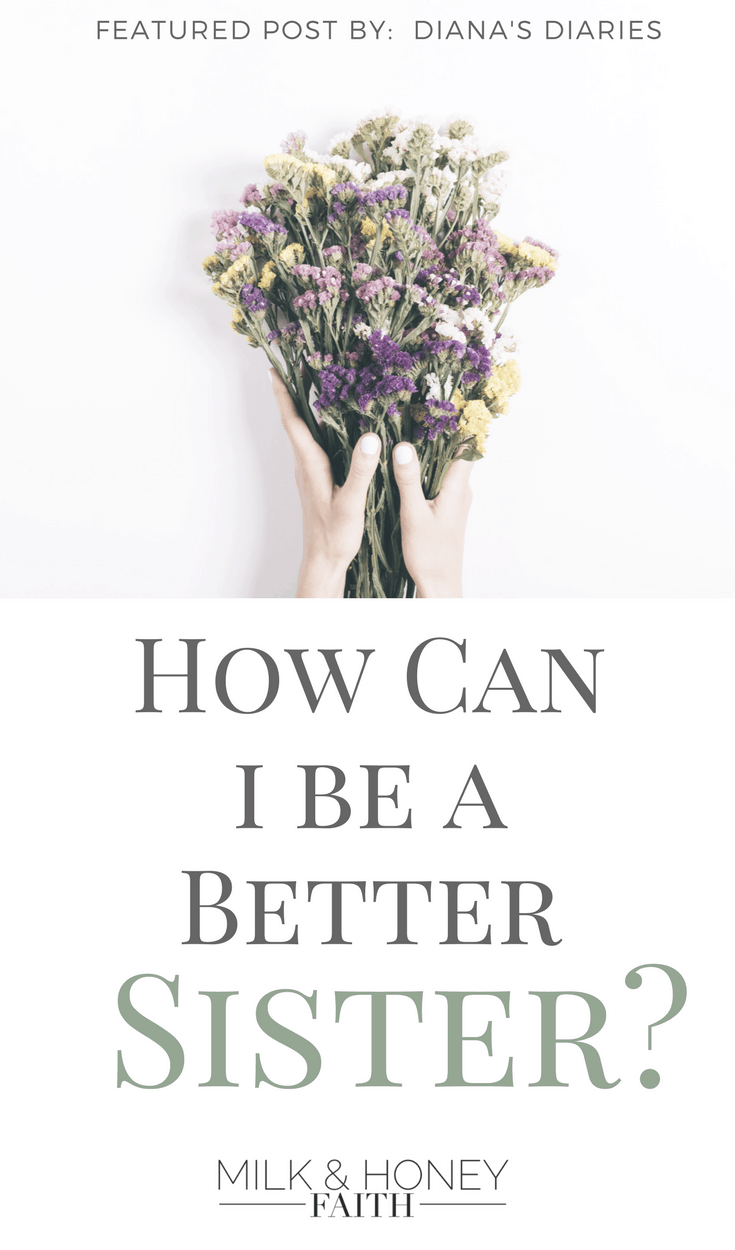 Do you ever wonder if you could be a better sister or if you are a good one at all?  Read this post to see if you carry the character of a good sibling, friend, and sister-in-Christ.  #spiritualgrowth #saltandlightlinkup #milkandhoneyfaith #beabettersister