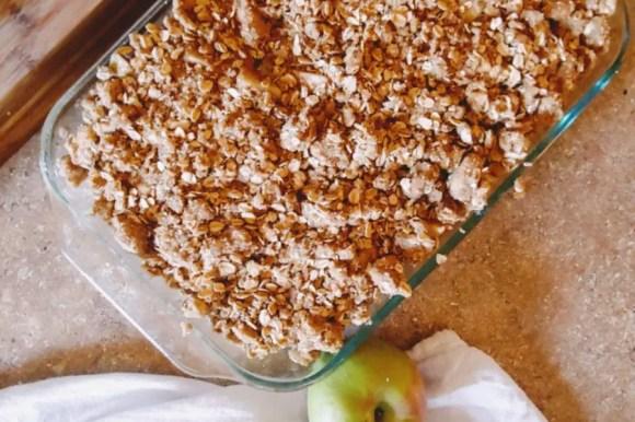 My Husband's Special Wedding Day Apple Crisp Recipe