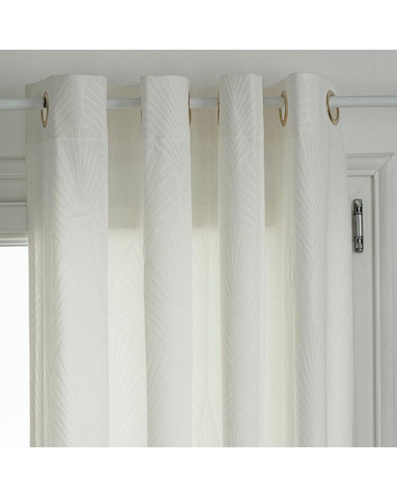 rideau velours emboite feel ivoire 140 x 260