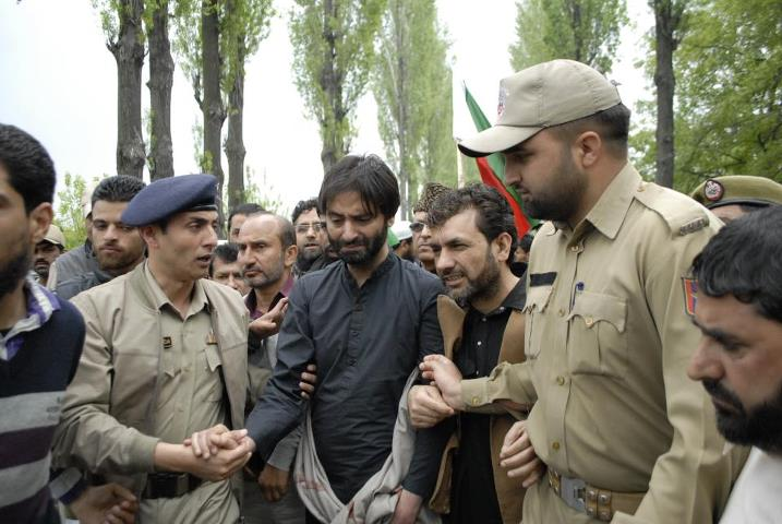 Image result for Yasin Malik condemns reign of terror in IOK