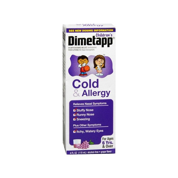 Image Result For Dimetapp Cold And Allergy Dosage