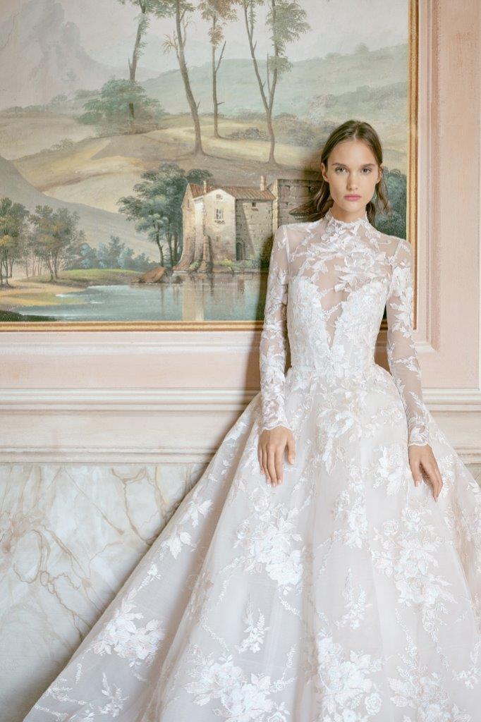 robe de mariée Monique Lhuillier collection mariage automne 2020 pour mille mariages robe n°5