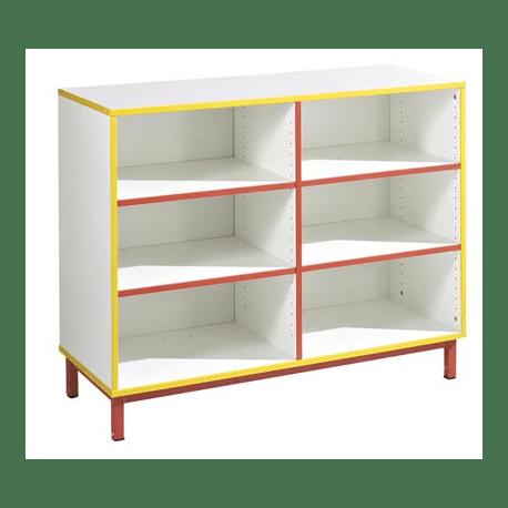 meuble de rangement ouvert