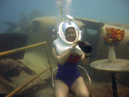 """I look like I'm having fun, but in reality I was thinking """"Would they mind if I refused to go back up and live underwater forever?"""""""