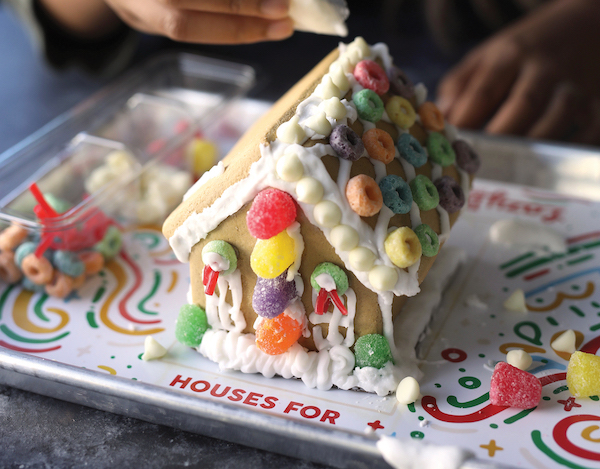 lazy dog, houses for the holidays, habitat for humanity, gingerbread houses, campaign, hand up
