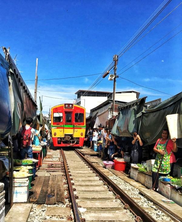 Maeklong Railway Market, Bangkok, Thailand