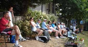 Watchers of a Millennium Cup tie at Grafton LTC
