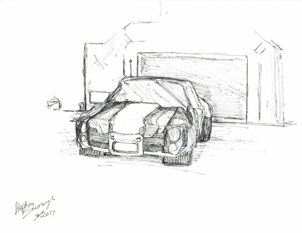 Ink Drawing of a Car