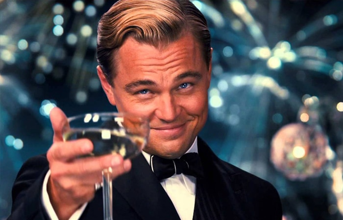 Leo in the Great Gatsby giving a toast