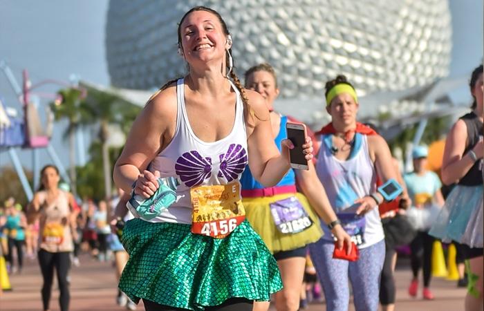 Lacey running a Disney marathon