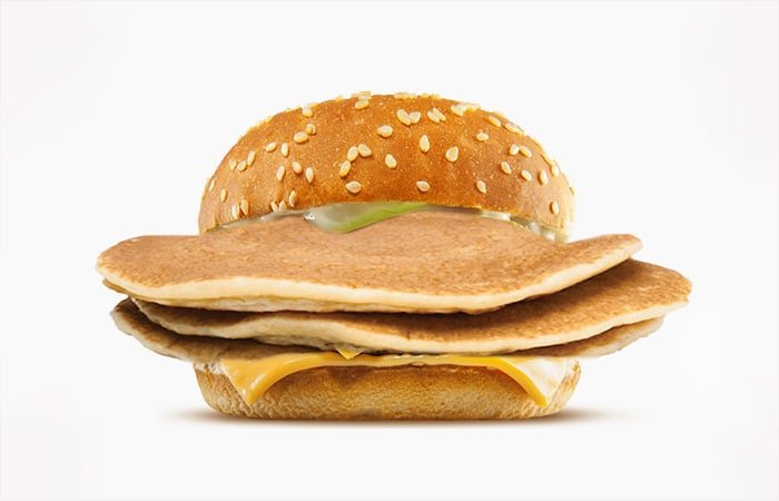IHOB burger - pancake. A burger with pancakes instead of a meat patty