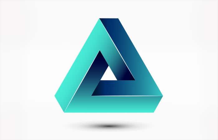 optical illusion geometric triangle