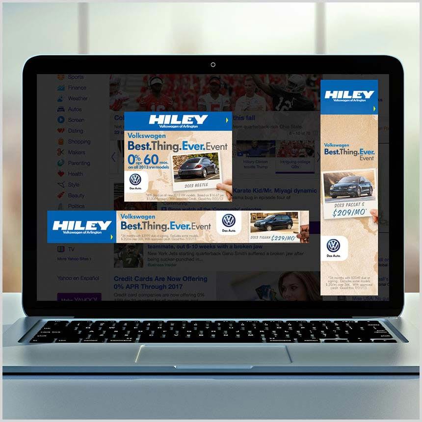 Hiley VW of Arlington web banners