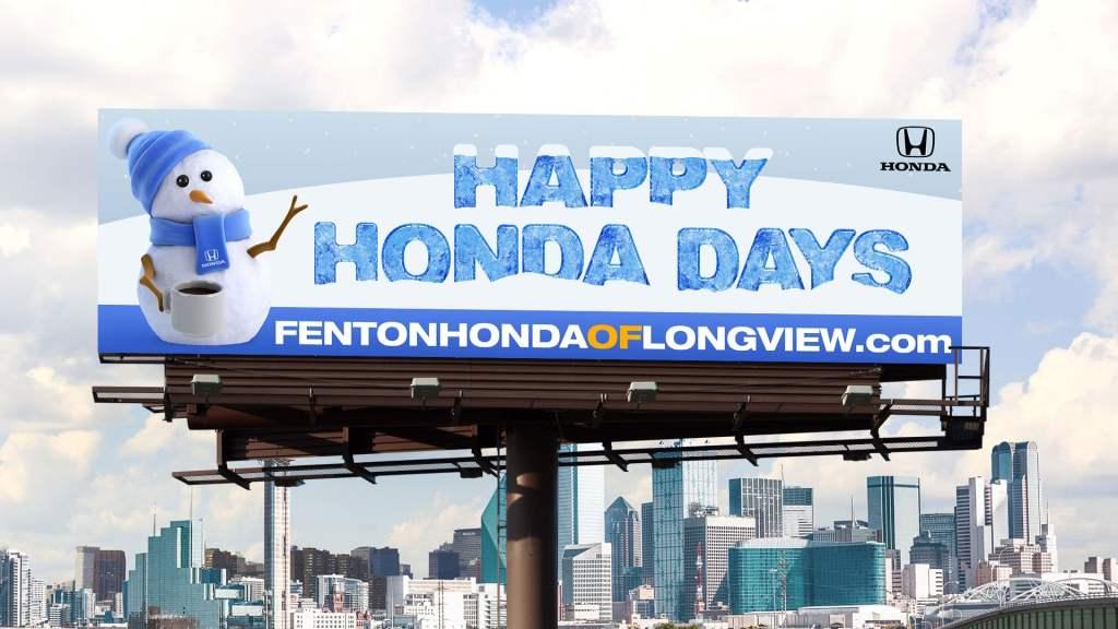 Fenton Honda Happy Honda Days billboard
