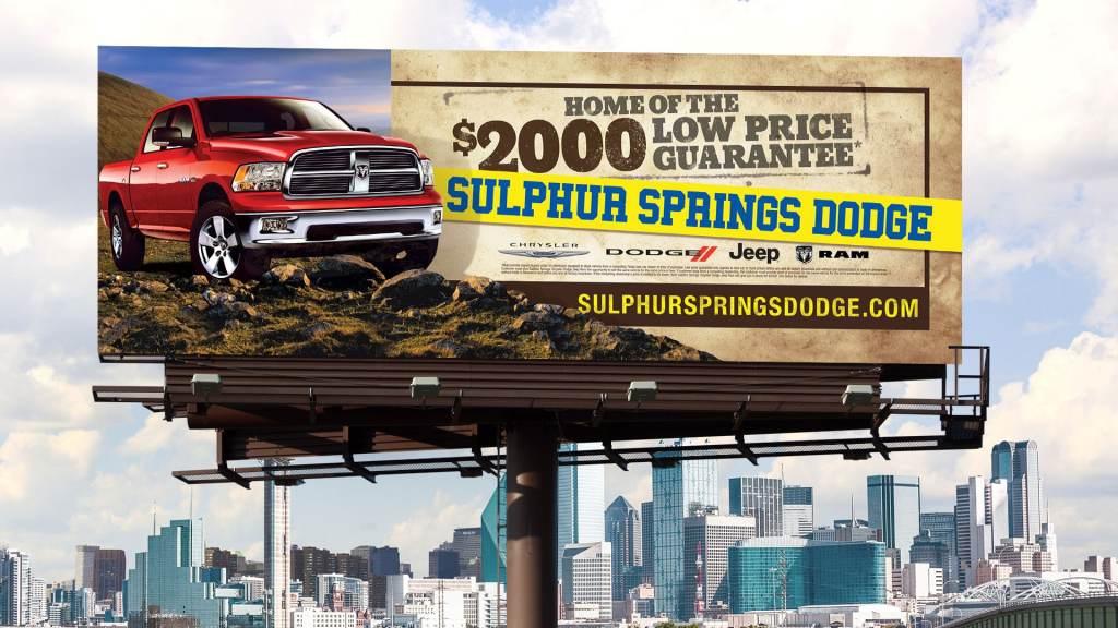 Sulphur Springs Dodge billboard