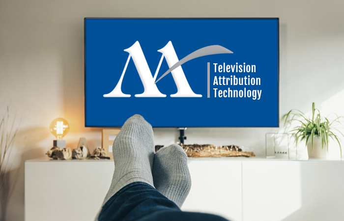 Television Attribution Technology with Miller Ad Agency logo on television screen