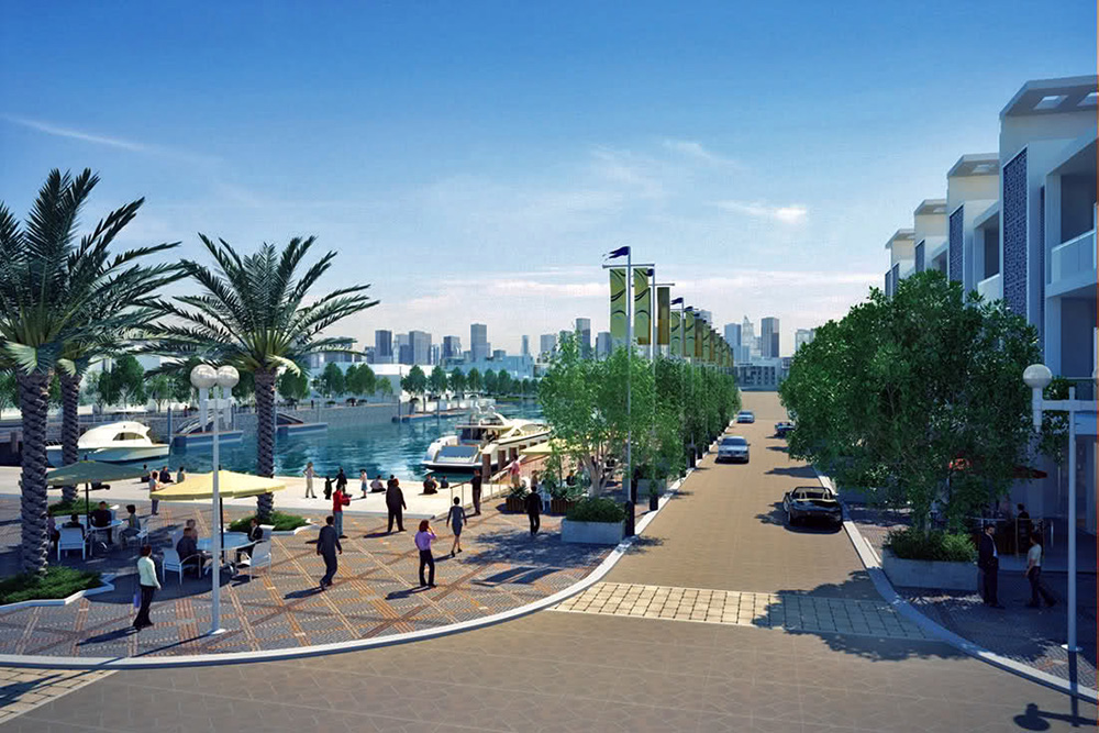 Photo Realistic Nakheel Waterfront Plan