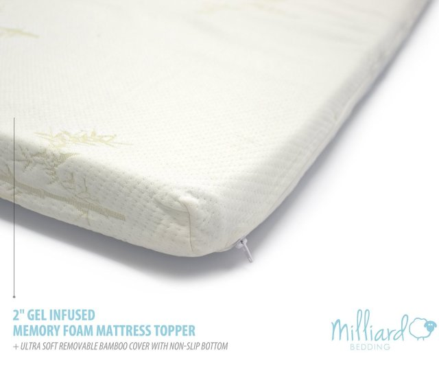 Gel Infused Memory Foam Mattress Topper Bamboo Cover Twin