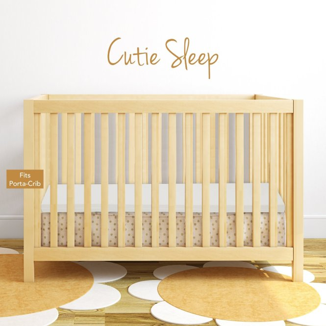 Memory Foam Portable Crib Mattress Topper