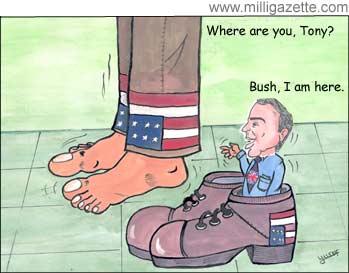 Bush and Blair, cartoon