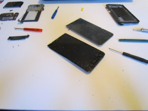disassembled phone screen
