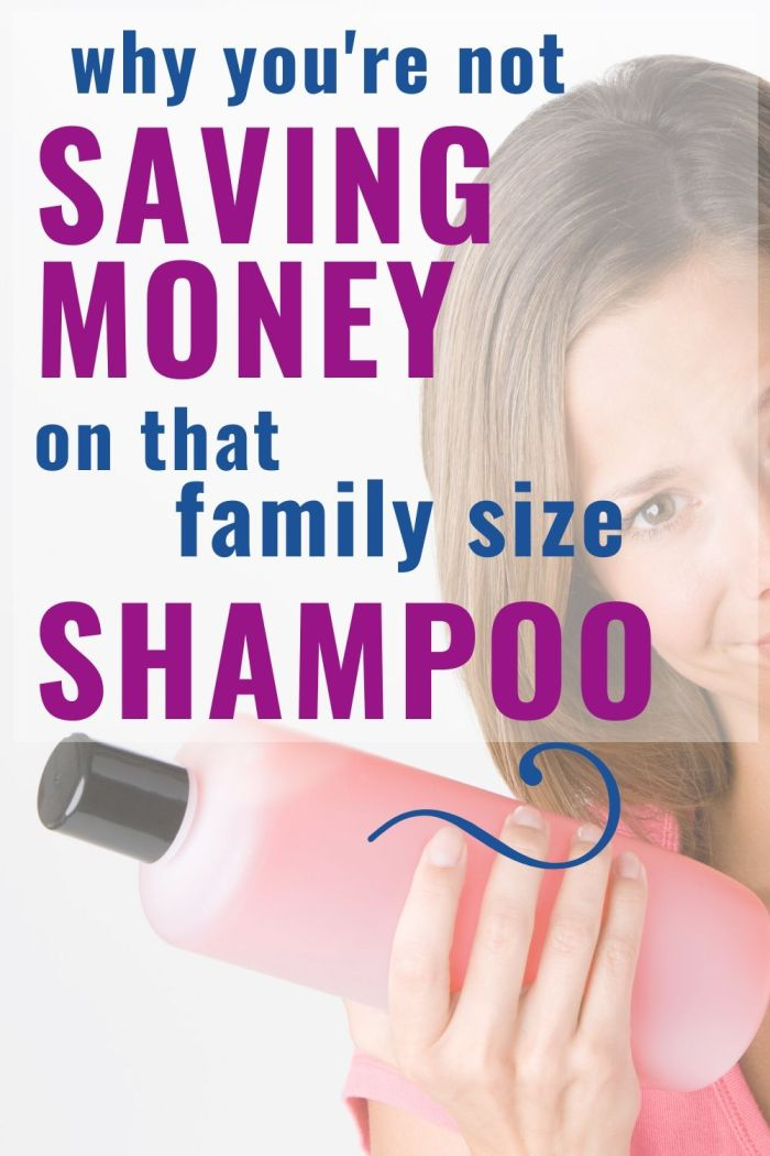 how to save money on family size shampoo pin