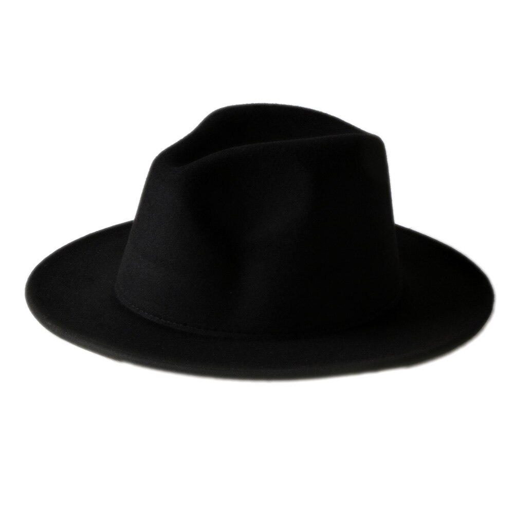 Fedora Hats Men Women Wool Black Style Felt Trilby Sun Hat BNWT//New Gangster Panama Hat with Feather in Stock