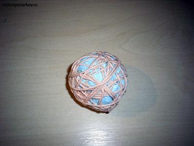 Новогодняя детская поделка «Елочная игрушка 'Шар ...