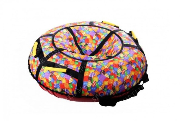 Санки надувные 90 см STELS Тюбинг ткань с рисунком без ...
