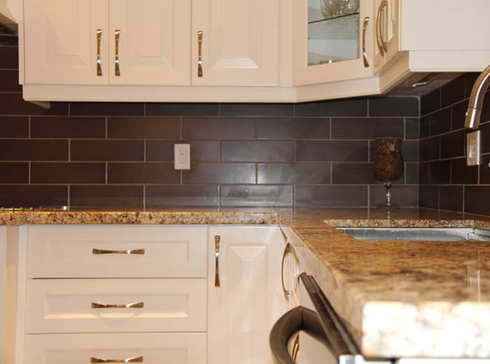 Custom Kitchen with Granite Countertop in Mississauga by ... on Backsplash For Black Granite Countertops And Brown Cabinets  id=15965