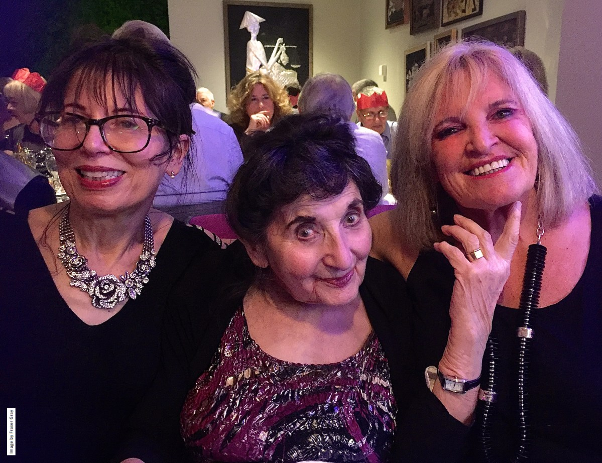 Shula, Milly & Norina at Bali Brasserie New Years Eve party 2016/17, image by Fracer Gray