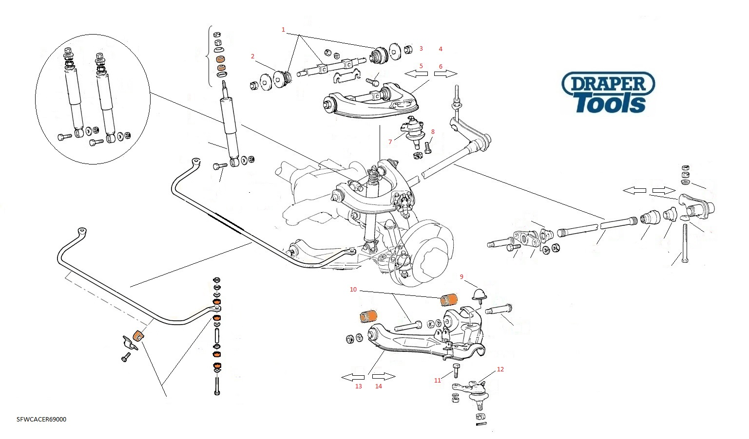 Front Wishbone Control Arms Amp Components For Ford Ranger