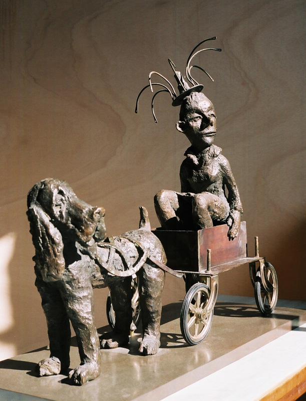 Royal carriage, sculpture en bronze, outsider art
