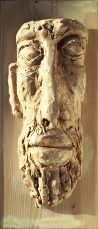 HARMONIE BLANCHE / Tableaux masculins (1993) / grès blanc sur planche / (64 x 31 x 9 cm) / 500€
