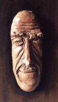 L'AMANT / Tableaux masculins (1993) / terre cuite fixée sur planche / (50 x 30 x 10 cm) / 400€