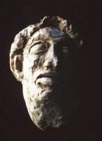 L'AVEUGLE / Tableaux masculins (1993) / terre cuite fixée sur planche / ( 60 x 40 x 15 cm) / collection privée - collection privée