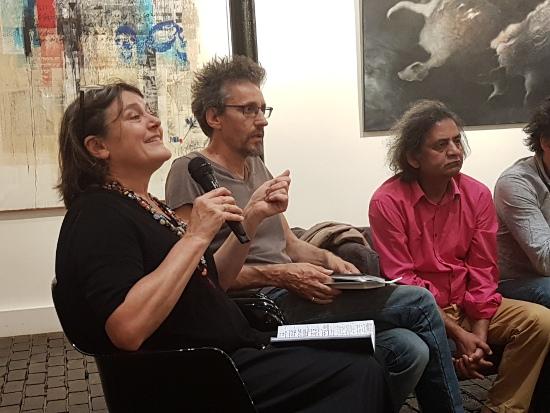 Conférence lors du salon de Figuration Critique de 2018