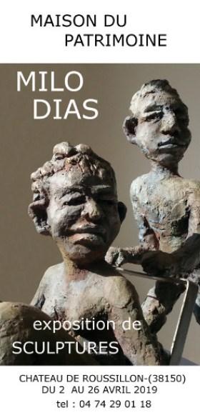 Exposition de sculptures de Milo Dias à la Maison du Patrimoine de Roussillon