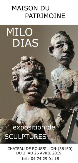 Exhibition of sculptures by Milo Dias at the Maison du Patrimoine in Roussillon