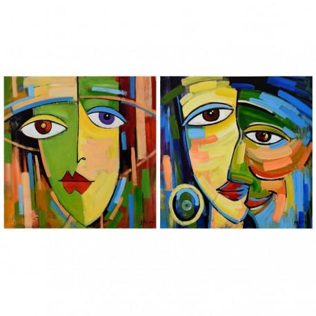 tableau peinture moderne colore angelo milome