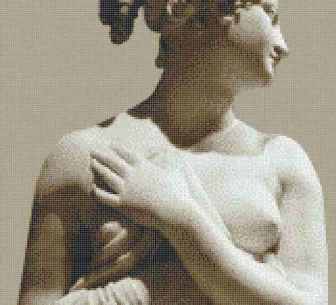 Greece goddess glass mosaic Griekse Godin glasmozaïek