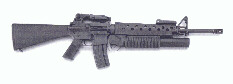US M-203 Grenade Launcher attached to M-16A2 Assault Rifle