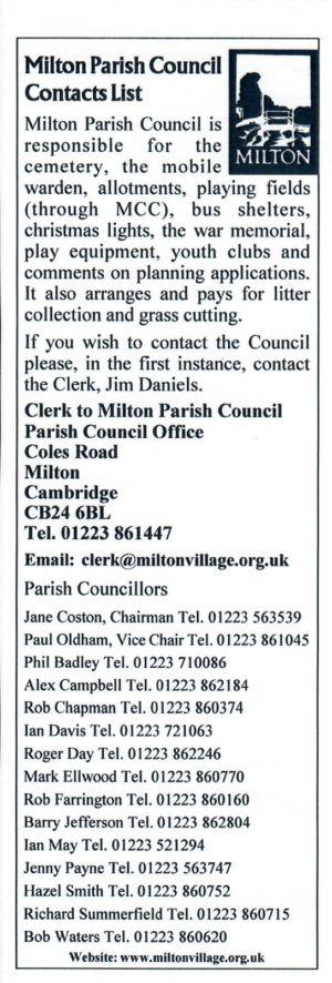 VV Issue 74 Oct 2006 Parish Council Insert