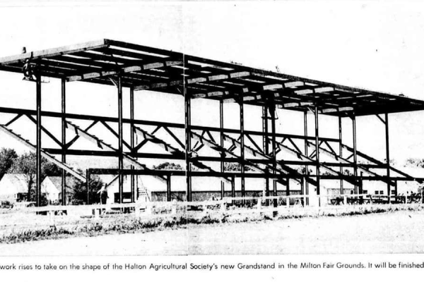 Grandstand at Milton Fairgrounds